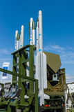 Rockets of the launching missile station IRIS-T SLS of the company Diehl Defence Stock Photos
