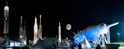 Rockets at NASA Kennedy Space Center. Rockets at the space center, NASA Kennedy Space Center, Cape Canaveral, Brevard County, Florida, USA Stock Photos