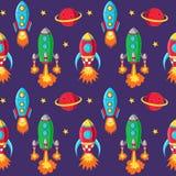 Rockets seamless pattern Royalty Free Stock Photos