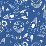 Rockets seamless pattern Stock Image