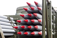 Rockets, weapons of mass destruction, nuclear weapons. Chemical arms Royalty Free Stock Images