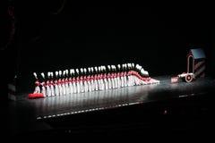 Rockettes bij de RadioZaal van de Muziek van de Stad, de Stad van New York Royalty-vrije Stock Foto