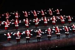 Rockettes bij de RadioZaal van de Muziek van de Stad, de Stad van New York Stock Fotografie