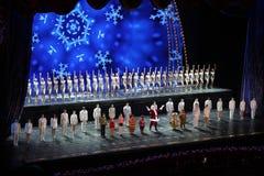 Rockettes bij de RadioZaal van de Muziek van de Stad, de Stad van New York Stock Foto's