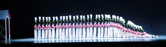 Rockettes bij de RadioZaal van de Muziek van de Stad, de Stad van New York Royalty-vrije Stock Afbeelding