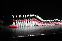 Rockettes en de radio teatro de variedades, New York City la ciudad Fotografía de archivo