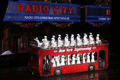 Rockettes en de radio teatro de variedades, New York City la ciudad Imagen de archivo