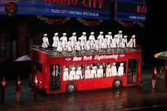 Rockettes am Radiostadt-Auditorium, New York City lizenzfreie stockfotos