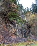 Rockface i villebrådet på Bromberg Arkivbild