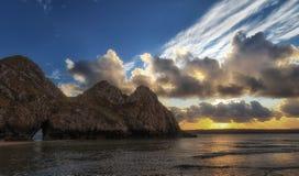 Rockface monolithique de trois falaises Images stock