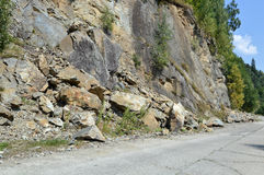 rockfall Photo stock