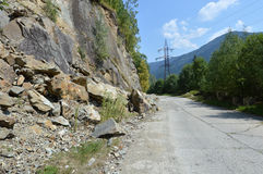 rockfall Photographie stock