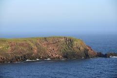 Rockfall on Gateholm Island Stock Photo