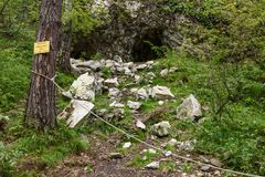 Rockfall im Berg Altai Lizenzfreies Stockfoto
