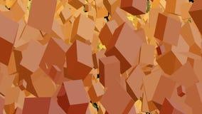 Rockfall of many cubes stock video
