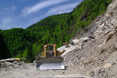 Rockfall in the mountains Stock Photography