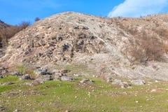 Rockfall op de heuvel Royalty-vrije Stock Foto
