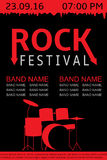 Rockfestivalfahne Lizenzfreie Stockfotografie