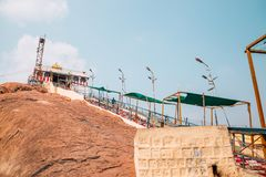 Rockfort Thayumanaswami寺庙在蒂鲁吉拉帕利,印度 免版税库存图片