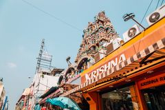 Rockfort Thayumanaswami temple in Tiruchirappalli, India. Tiruchirappalli, India - January 4, 2018 : Rockfort Thayumanaswami temple Stock Images