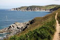 Rockham Bay from Mort Point, North Devon Stock Photo