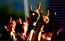 rockhandsignsatconcert Royalty Free Stock Photos