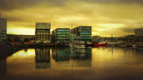 Rockheim und Brattøra, Trondheim Lizenzfreie Stockfotografie