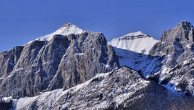 Rockies. Canadian Rockies in the winter time Stock Photo