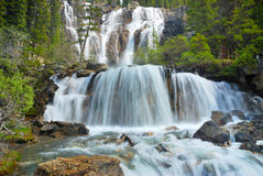 Rockies Waterfall. Waterfall in the Jasper National Park, Rockies, Canada royalty free stock images