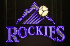 rockies znak obrazy royalty free