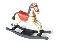 rockin лошади деревянное Стоковая Фотография