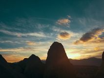 Rockin formations. Beautiful sky and rocks Stock Photo
