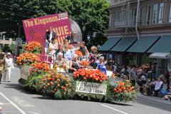 Rockin good time. Float in the Rose Grand Parade 6,6,15 Royalty Free Stock Photography