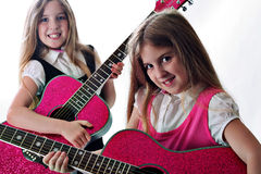 Rockin sisters Royalty Free Stock Image