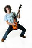 Rockin teenager sulla chitarra immagine stock