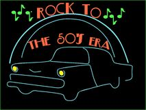 Rockin to the 50's.... Royalty Free Stock Photo