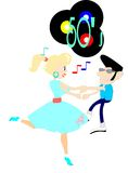 Rockin to the 50's Music Royalty Free Stock Images
