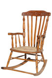 Rocking Chair. Wooden chair a rocking chair on a white background Stock Photo