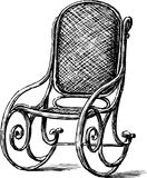 Rocking chair. Vector drawing of an old rocking-chair vector illustration