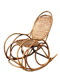 Rocking chair. Light braided rocking chair. Isolated stock photo