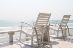 Rocking Chair on the beach Royalty Free Stock Image