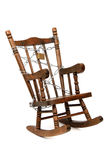 Rocking chair captured with chain and padlock Royalty Free Stock Image