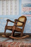 Rocking chair on a front porch stock photos