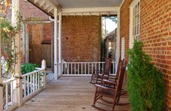 Rocking chair front porch Stock Image