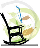 Rocking chair illustration Royalty Free Stock Photo
