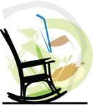 Rocking chair illustration Royalty Free Stock Photo