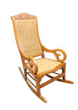 Rocking chair isolated on white background Royalty Free Stock Photos