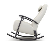 Rocking chair isolated on white background. Side view. 3d render. Ing stock illustration