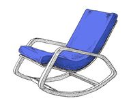 Rocking chair isolated on white background. Sketch a comfortable chair. Vector. Illustration stock illustration