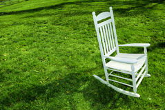 Rocking Chair on the Lawn Stock Photography